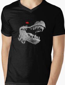Cyborg T-rex Mens V-Neck T-Shirt