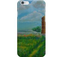 Oil Painting - Linton Water Tower, Cambridgeshire 2016 iPhone Case/Skin