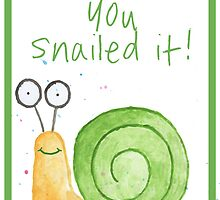 Snail Congratulations/Greetings Card by Francesca  Fearnley