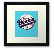 Milwaukee Beers Framed Print