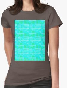 Glitchy Blocks Womens Fitted T-Shirt