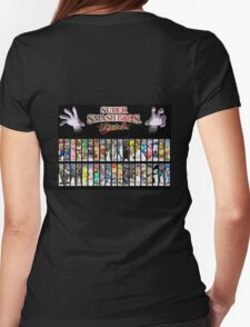 Super Smash Bros Brawl all characters Womens Fitted T-Shirt
