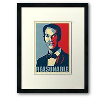 Reasonable Man Framed Print