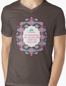 Navajo pattern with geometric elements Mens V-Neck T-Shirt