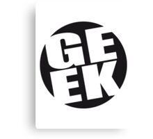 Round geek logo Canvas Print