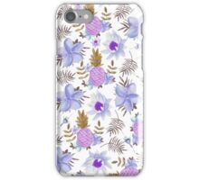 Pastel elegant lavender brown watercolor summer fruit floral iPhone Case/Skin