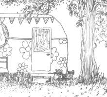 Secret summer caravan retreat  Sticker