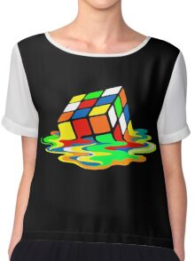 The Big Bang Theory Sheldon Cooper Melting Rubik's Cube cool geek Chiffon Top