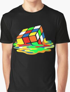 The Big Bang Theory Sheldon Cooper Melting Rubik's Cube cool geek Graphic T-Shirt