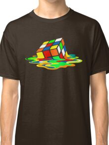 The Big Bang Theory Sheldon Cooper Melting Rubik's Cube cool geek Classic T-Shirt