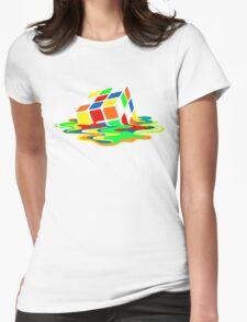 The Big Bang Theory Sheldon Cooper Melting Rubik's Cube cool geek Womens Fitted T-Shirt