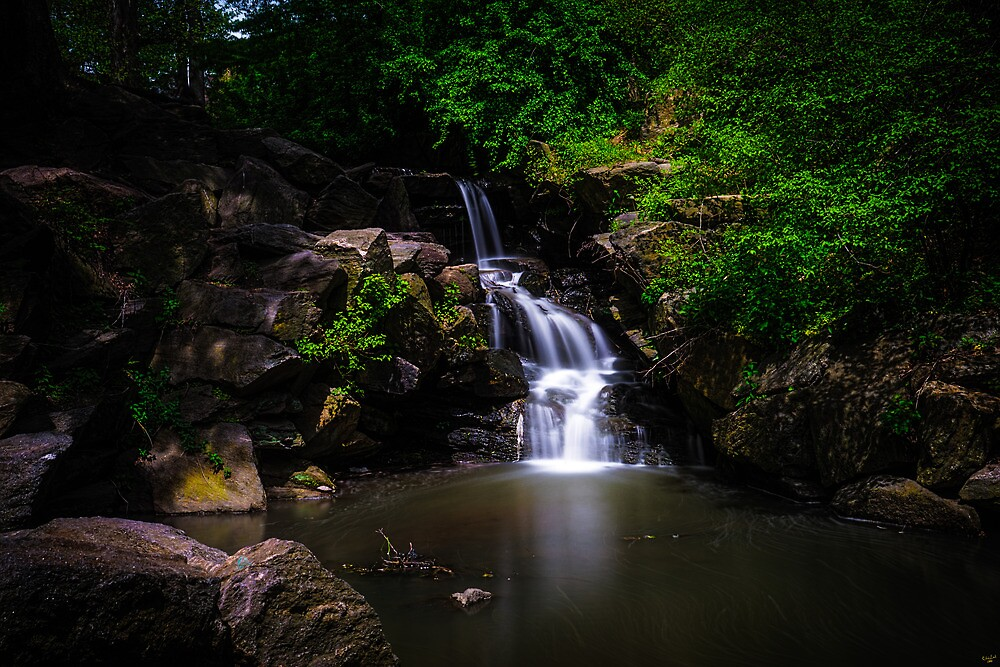 """A """"North Woods"""" Waterfall In Spring by Chris Lord"""