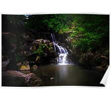 """A """"North Woods"""" Waterfall In Spring Poster"""