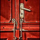Red Beach Door by Simon Duckworth