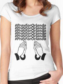 PrayForOrlando Women's Fitted Scoop T-Shirt