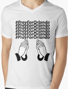 PrayForOrlando Mens V-Neck T-Shirt