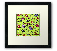 Comic Girl Cry Faces Framed Print