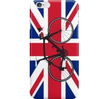 Bike Flag United Kingdom (Big - Highlight) iPhone Case/Skin