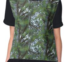 The Winter Greenery Chiffon Top