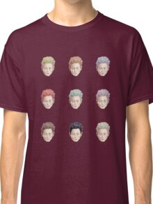 Colorful Tilda Heads on White Classic T-Shirt
