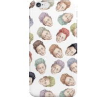 Colorful Tilda Heads on White iPhone Case/Skin