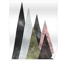 Geometric Mountains 2 Poster
