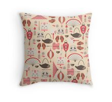 Japan Elements Throw Pillow