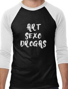 Art Sex Drugs - White  Men's Baseball ¾ T-Shirt