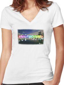 Pray For Orlando Women's Fitted V-Neck T-Shirt
