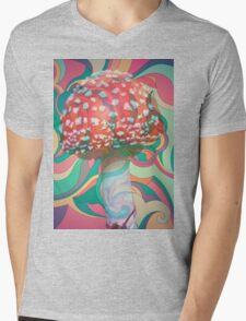 Magic Mushroom Mens V-Neck T-Shirt