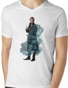 Captain Hook Flowers Mens V-Neck T-Shirt