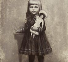 The Girl With a Doll by vardanaslanyan