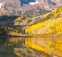 The Maroon Bells near Aspen Sticker