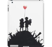 Banksy 'kids on guns hill' graffiti art. iPad Case/Skin