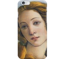 The Birth of Venus, mythic early Renaissance art, cropping iPhone Case/Skin