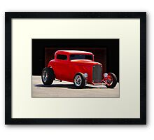 1932 Ford Coupe 'Simply Red' Framed Print