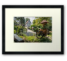 German Half - Timbered Building Framed Print