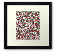 Strawberry Fields and Dashes Framed Print