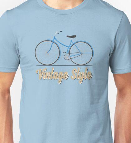 Vintage bike (blue) Unisex T-Shirt