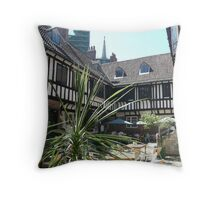 St Williams college courtyard Throw Pillow