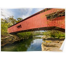 Narrows Covered Bridge, Indiana Poster
