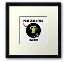Personal Space Invader Framed Print