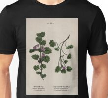 Wayside and woodland blossoms a pocket guide to British wild flowers for the country rambler  by Edward Step 1895 033 Ground Ivy Leaved Toadflax Unisex T-Shirt