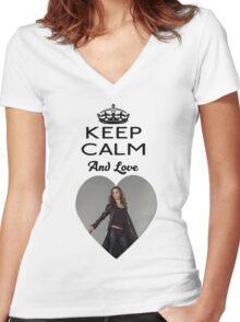 Buffy Faith Eliza Dushku Dollhouse  Women's Fitted V-Neck T-Shirt