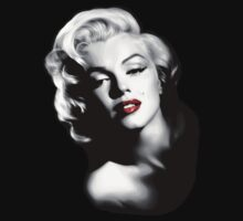 Marilyn Monroe with red lips by threesecond