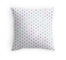 Blue & Purple Spots Throw Pillow