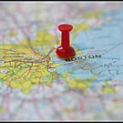Boston on a Map by Michelle Callahan