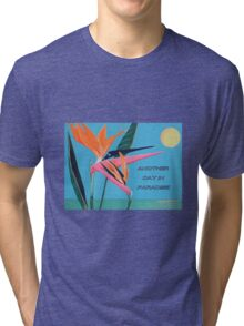 MESSAGE PIECE:  Another Day in Paradise Tri-blend T-Shirt