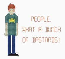 The IT Crowd – People, What a Bunch of Bastards! Kids Tee