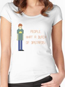 The IT Crowd – People, What a Bunch of Bastards! Women's Fitted Scoop T-Shirt